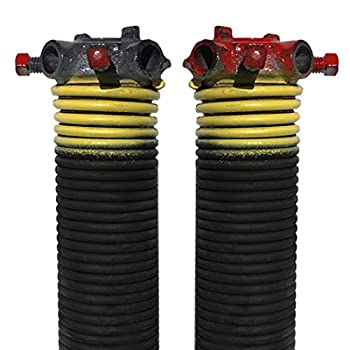 DURA-LIFT .207 x 2  x 25  Torsion Garage Springs  Yellow Left & Right Wound