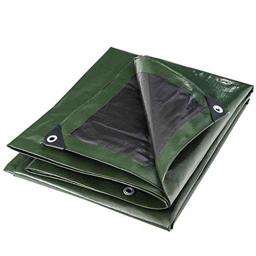 WerkaPro 10667 - Bâche industrielle - Ultra Lourde - 3x5 m - 240g/m2 - Réversible - Noire et Verte