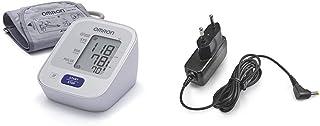 OMRON M2 - Tensiómetro de brazo, detección del pulso arrítmico, tecnología Intellisense para dar lecturas de presión arterial rápidas, cómodas y precisas + Adaptador Corriente