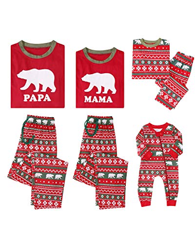 ABYOXI Christmas Pajamas for Family Clearance -Family Christmas Pajamas Set - Christmas Pajamas for Family-Xmas Pjs Family-Xmas Pjs Family A Kids3-4Y Red