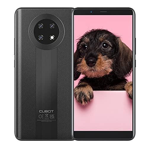 CUBOT Note 9 Smartphone ohne Vertrag 4G Android 11 Go, 5,9' HD Bildschirm, 16MP Dreifach Kamera, 3GB+32GB, 128 GB erweiterbar, Daul SIM Face ID Handy - Schwarz