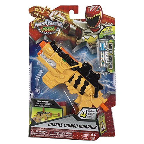 Power Rangers : Dino Super Charge – Morpher Lanza Misiles – Blaster + 4 Dardos + Charger