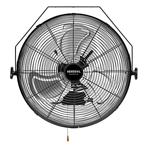 VENTISOL 18 Inch Wall Mounted Fan 4,012CFM High...