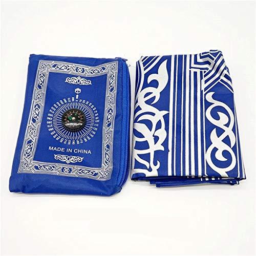KUNSE draagbaar islamitische gebed tapijt Teppich gemakkelijk bidden dekens w/zak Ramadan islamitische decoratie geschenken