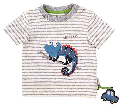 Sigikid Baby-Jungen T-Shirt, Chamäleon/Gestreift, 98