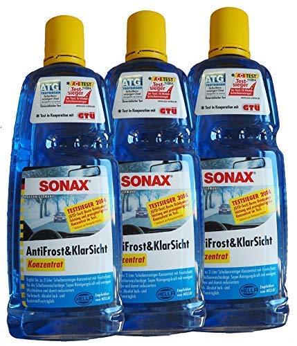 Preisjubel 6 x SONAX AntiFrost&KlarSicht Konzentrat 1l, Frostschutz, Enteiser, Reiniger