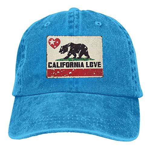 Denim Cap Bear California Love Star Baseball Dad Cap Adjustable Classic Sports for Men Women Hat