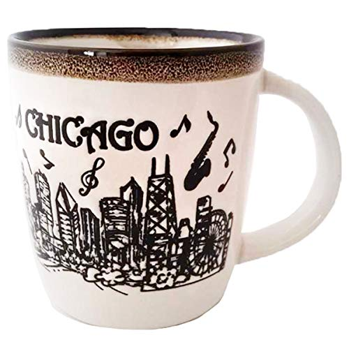 Chicago City Skyline Souvenir Ceramic Coffee Mug Music of Chicago Long lasting Coffee Cup