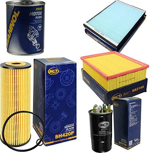 Original SCT Inspektionspaket Filter Set + Motor Flush Motorspülung 11586599