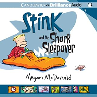 Stink and the Shark Sleepover audiobook cover art