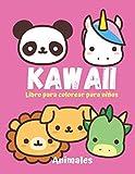 KAWAII Libro para colorear para niños. Animales.: 18 Ilustraciones de animales super bonitos y tiern...