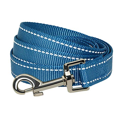 LilonGXI hondenriem, nylon, blauw, veiligheidsgordel, waterdicht, slijtvast, met metalen sluiting, voor pups, kleine honden, accessoires, S