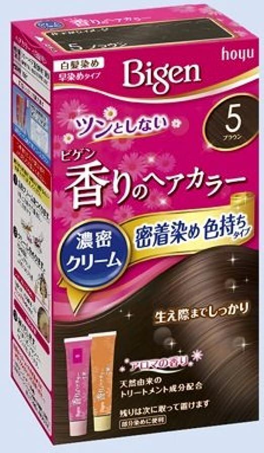 そよ風修正不公平ビゲン 香りのヘアカラー クリーム 5 ブラウン × 27個セット