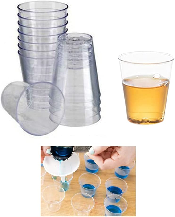 60 X Mini low-pricing Shot Glasses Clear Hard Oz Cheap super special price Cup 20ml Party 0.68 Plastic