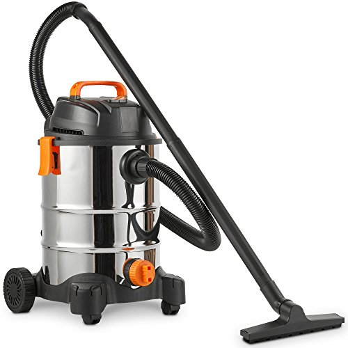 VonHaus Wet and Dry Vacuum Cleaner 1250W - Bagless Vac for Indoor or Outdoor Use - 30L Capacity Dust Tank - 3 in 1 with Blower Function