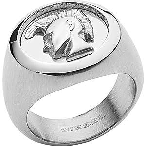 Diesel DX1211040512 Herren Ring Edelstahl Silber 20,1 mm Größe 63