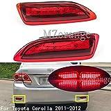 Clidr LED Rear Tail Brake Light for Toyota Corolla Lexus 2011 2012 CT Parking Warning Brake Tail Lamp Red Lens Rear Bumper Reflector Light