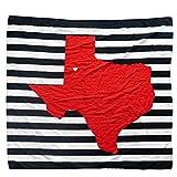 TWIG & BALE Lubbock Texas Tech Baby Blanket Organic Cotton Muslin Swaddle Blanket - 47' x 43' - Fans of Texas Tech Baby Gift for Boys Girls Newborn Receiving Blankets