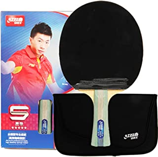 DHS Ping Pong Table Tennis Racket Paddle Bat 5 Star