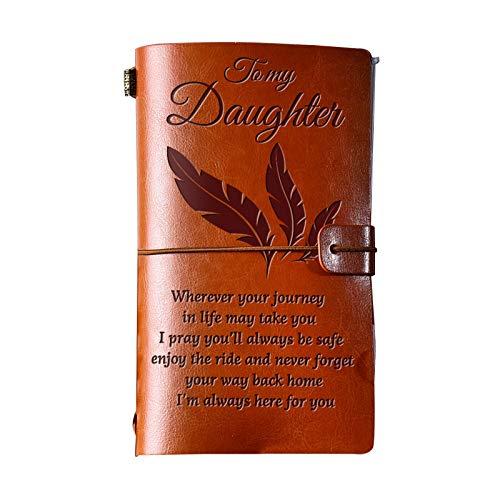 NRRN Cuaderno de diario de cuero, cuaderno de cuero vintage con encuadernación de cuero para hombres y mujeres, cuaderno Keep Good Memories