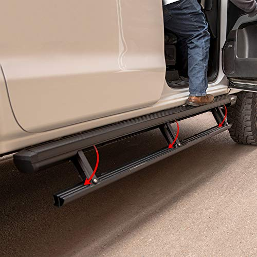 2010-2018 Ram 2500//3500 Excludes Dual Exhaust /& EcoDiesel Models MKING 75306-01A BedStep Retractable Bumper Step for 2009-2018 Ram 1500