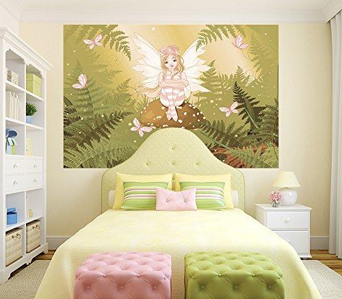Fototapete selbstklebend Kinderbild - Fee - Vintage 150x100 cm - Poster – Dekoration – Wandbild – Wandposter – Wand - Wanddeko