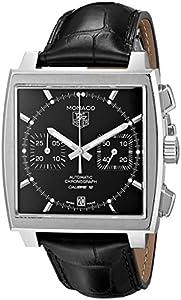 TAG Heuer Men's CAW2110.FC6177 Monaco Analog Display Swiss Automatic Black Watch