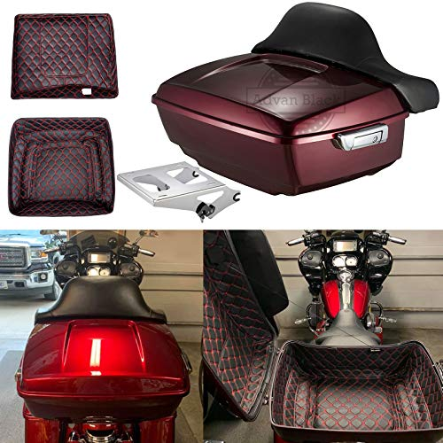 Great Features Of Advanblack Velocity Red Sunglo Tour Pack King Tour Pak Liner Mounting Rack Fit for...