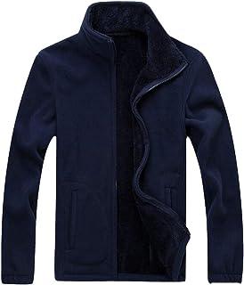 WSPLYSPJY Men's Outdoor Fleece Jacket Full Zip Thermal Winterwear
