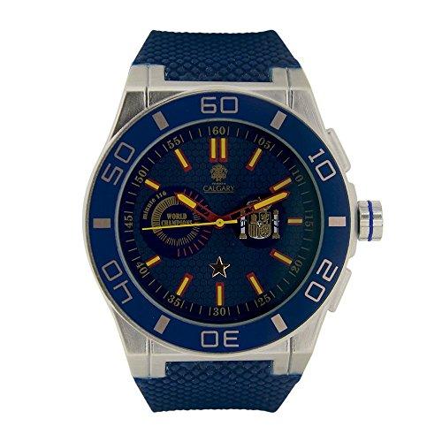 España World Champion Blue. Reloj Deportivo para Hombre, Correa de Caucho Azul, Esfera Color Azul. relojes calgary