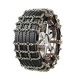 Catene da neve per auto - Catene per pneumatici per SUV - Catena in acciaio antiusura per pneumatici - con aggancio regolabile per ghiaccio, neve, fango, sabbia, pneumatico applicabile 215 mm e 285 mm