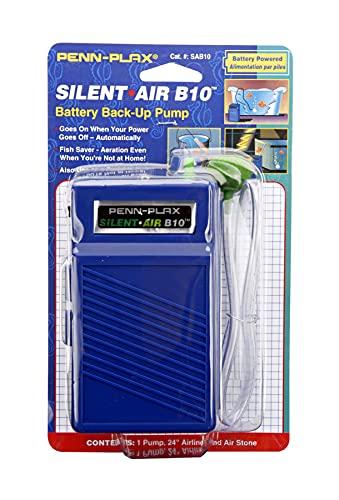 Penn-Plax Silent Air B10 Battery Operated Aquarium...