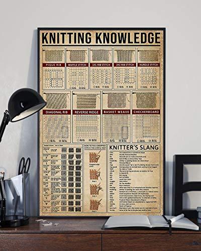 HolyShirts Knitting Knowledge Poster (24' x 36')