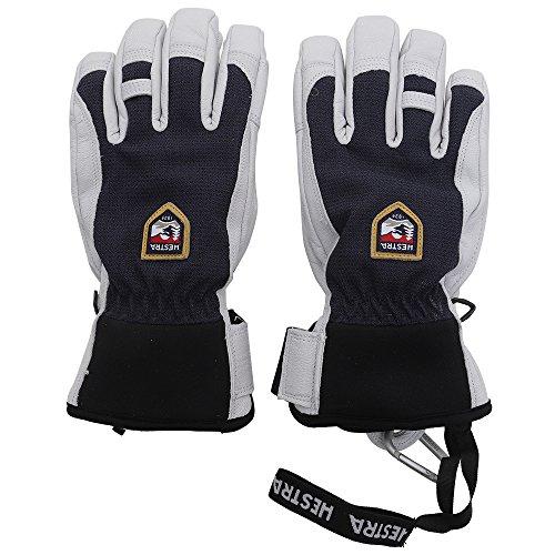Hestra Ski-Handschuhe, Leder, für kalte Wetterverhältnisse, Unisex Herren, Army Leather Patrol 5 Finger Glove, navy, 11