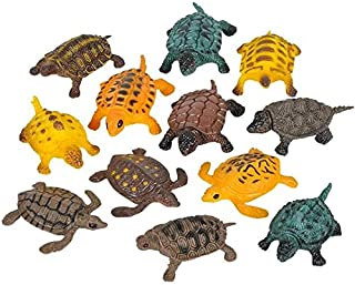 Rhode Island Novelty Turtles (Approximately 1.5 Inch-2 Inch Long - Size Vaes), 12PK