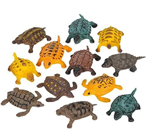 Rhode Island Novelty Turtles (Approximately 1.5 Inch-2 Inch Long - Size Vaes), 12PK