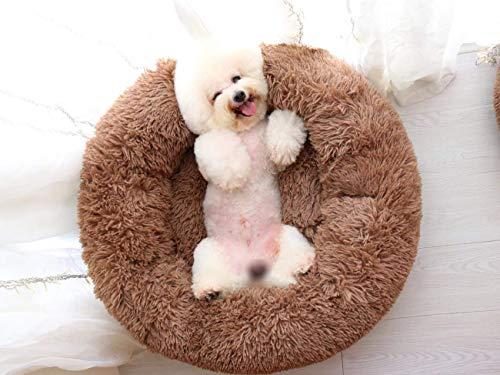 WQL Hundebetten, S M L XL XXL,Chic Hundesofa Hundekorb Katzenbett,Hundematratze,großes Hundekissen, Hunde Bett waschbar,Weichem Betten für Mittelgroße Großer Hund-M ca. 70 x 70 cm Braun