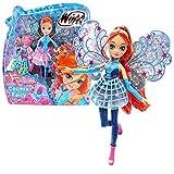 Winx Club Bloom | Cosmix Fairy Puppe beweglichen holografischen Flügeln