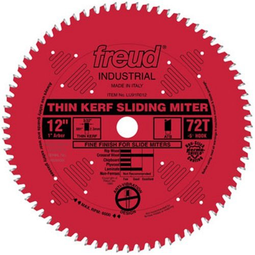 Freud 12' x 72T Thin Kerf Sliding Compound Miter Saw Blade (LU91R012)