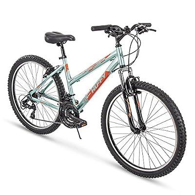 Huffy Hardtail Mountain Trail Bike 24 inch, 26 inch, 27.5 inch, 26 inch wheels/17 inch frame, Gloss Metallic Mint