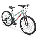 Huffy Hardtail Mountain Trail Bike 24 inch, 26 inch, 27.5 inch, 26 inch wheels/15 inch frame, Gloss Metallic Mint