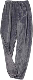 Macondoo Mens Flannel Fleece Lounge Winter Warm Sleepwear Pajama Pants