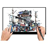 Monitor portatile da 17.3 pollici, Touch screen,biro touch,1920x1080P FHD IPS,HDR Ultra-sottile Gaming Office Dual Monitor con Type-C USB HDMI per laptop mobile Xbox PS4 Switch PC Phone