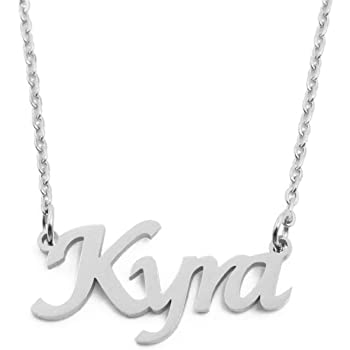 Kigu Alisha Custom Name Necklace Personalized Silver Tone