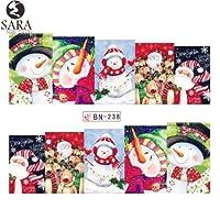 ネイルサロン1ピース透かしステッカーdiyネイルデカール水転写雪だるまエルク漫画クリスマスデザインマニキュアSABN 229-240 BN 238