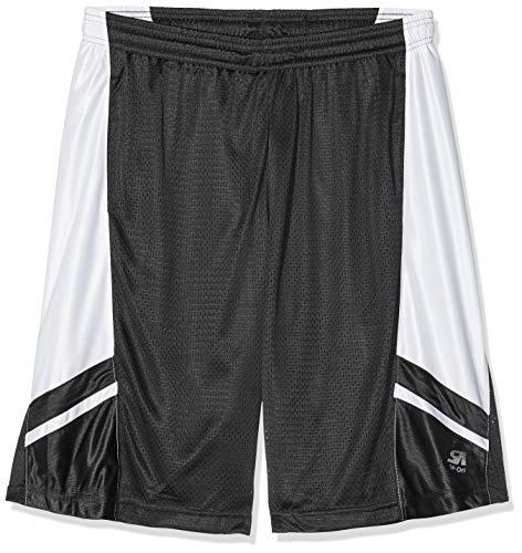 Southpole Herren Basketball Mesh Shorts, Schwarz, XL