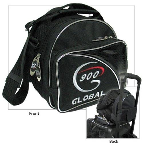 900 Global add-a-Bag Single Tote Bowling Bag Schwarz/Silber, Mehrfarbig