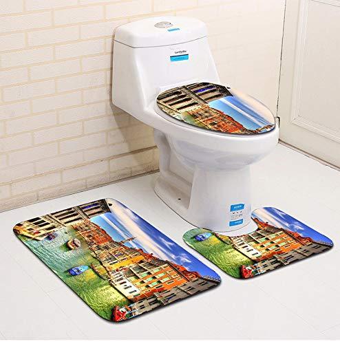caomei Fleece Dolfijn Toilet Mat Accessoires 3 stks Badmat Memory Foam Toilet Stoelhoezen India Decoratie Tapijten