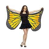 kingko® Schmetterlings Flügel Kostüm Damen Fasching Schmetterling Weicher Gewebe Flügel Schal,...