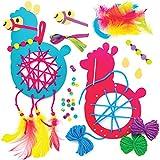 Baker Ross Kits Atrapasueños Llama Set de manualidades para niños (paquete de 4)